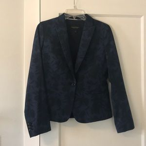 NWOT Black and Blue Floral Blazer